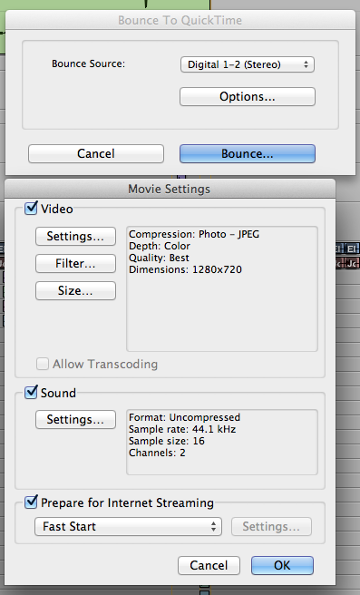 ProTools: Bounce to Quicktime Movie with Full Options   Randy Coppinger
