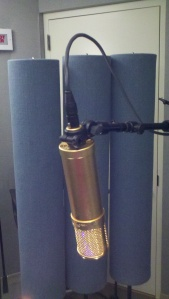 Lawson L47 tube condenser microphone profile view