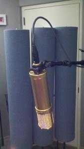 Lawson L47 tube condenser microphone profile view