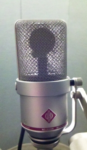 Neumann TLM 170 condenser microphone with element in silhouette