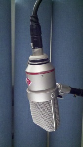 Neumann TLM 170 condenser microphone profile view