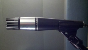 Ampex 3001 cardioid moving coil microphone featuring a Shure Unidyne element