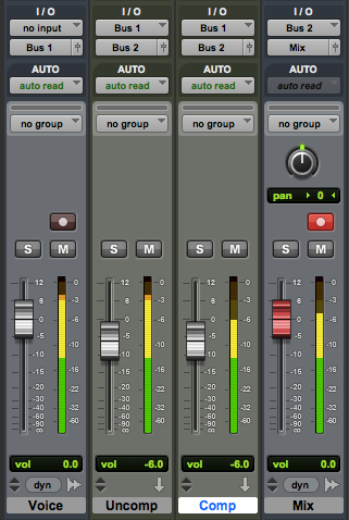Example of Parallel Compression implemented in ProTools