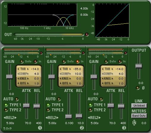 McDSP MC4000 plugin implemented as a de-esser