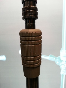 Ergonomic grip for telescoping vertical pole