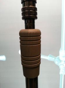 Ergonomic grip for telescoping vertical pole