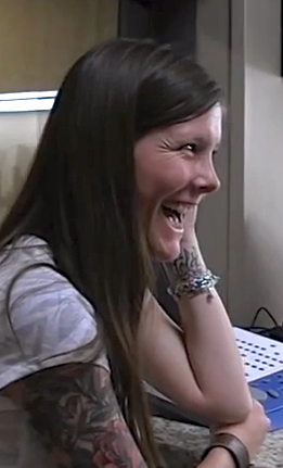 The joy on Sarah Churman's face as she hears for the first time