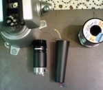 Shure SM57 microphone modification  desoldered element