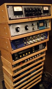 Outboard Gear Rack in Studio A at Doppler Studios in Atlanta, Georgia