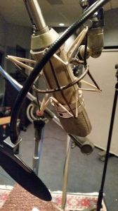 Neumann u87 Microphone at Doppler Studios in Atlanta, Georgia