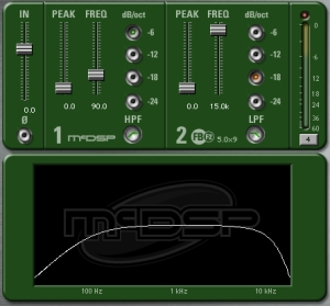 McDSP FilterBank F2 for RTAS with sliding faders